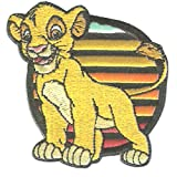 Disney © El rey león Simba - Parches termoadhesivos bordados aplique para ropa, tamaño: 6,5 x 6,7 cm