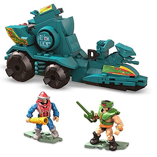 Mega Construx Masters of The Universe Battle Ram and Sky Sled Attack Vehicle Construction Set, Building Toys for Kids