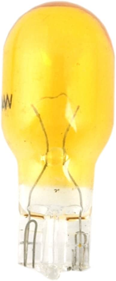 Moonrays 11694 4-Watt Wedge Base Replacement Light Bulb,4-Pack, Amber