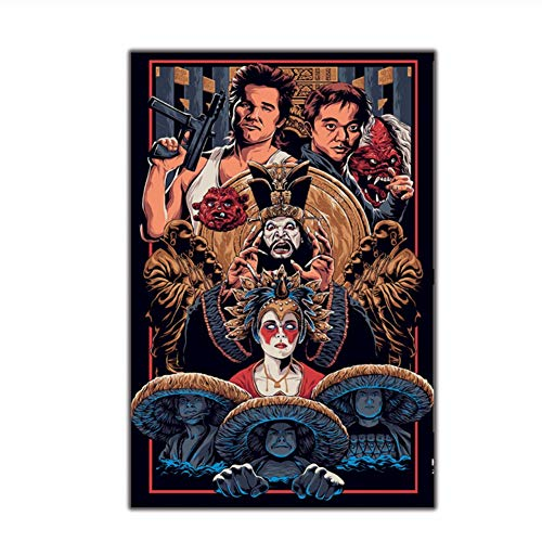 Suuyar Art Poster Big Trouble in Little China Movie Canvas Painting Wall Canvas Print Modern Decoration Painting Print on Canvas-60x80cm No Frame