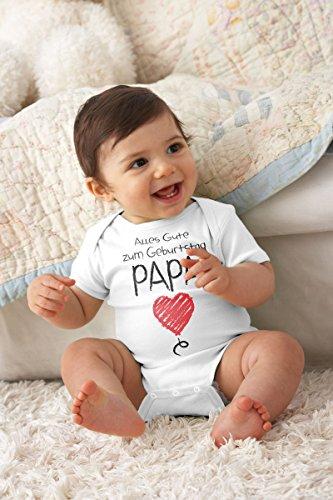 Shirtgeil Alles Gute Zum Geburtstag Papa – Vater Geschenk Baby Body Kurzarm-Body 18M Hellblau - 3