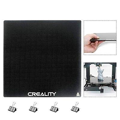 Creality Ender 3 Glass Bed 3D Printer Platform Heated Bed 3D Printer Build Surface 235x235x4mm for Ender 3, Ender 3 v2, Ender 3 Pro, Ender 5, Updated Version