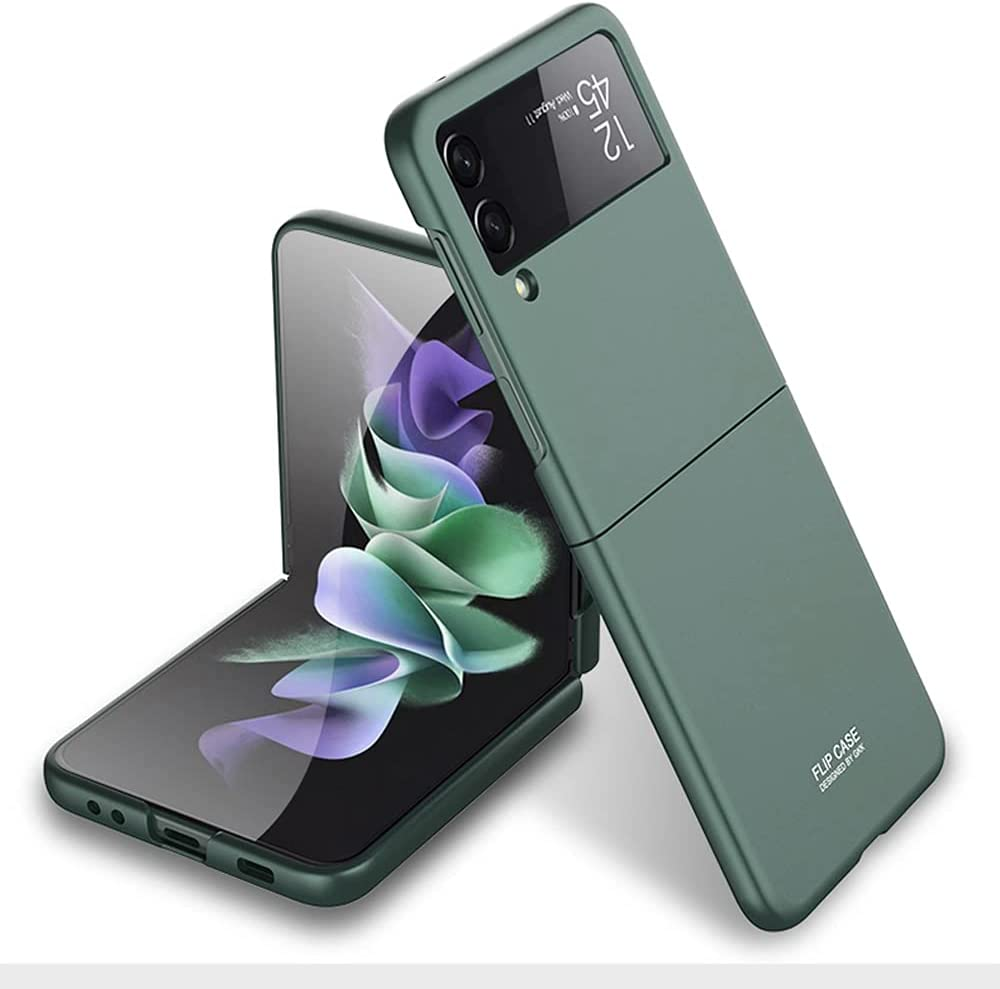Futanwei Ultralight Armor Cases for Samsung Galaxy Z Flip 3 Case, [Matte Finish Coating] [Scratch-Resistant] [Slim & Lightweight] Full Protection Hard PC Case for Samsung Galaxy Z Flip 3 5G, Green