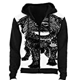 Dog.Labradoodle with Funny Expression - - Dog,Men/Womens Warm Outerwear Jackets and Hoodies Black Co
