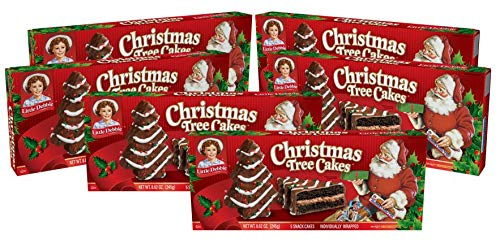 Little Debbie Christmas Tree Cakes (Chocolate), 6 Boxes, 30 Individually Wrapped Snack Cakes