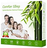 Waterproof Quilted Double Mattress Protector 135 x 190 cm Anti Allergy Breathable, Cooling Mattress protector and Cover Bamboo Topper [ UK Double Size 135 x 190 cm ]