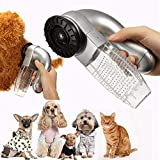 Cat Dog Pet Hair Fur Remover, Puppy Electric Hair Shedding Grooming Brush Comb Remover Unload Vacuum Cleaner Trimmer