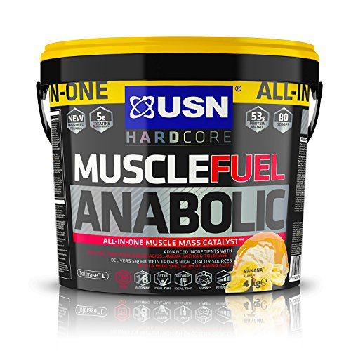 USN Muscle Fuel Anabolic Banana 4KG, Performance Boosting Muscle Gain Protein Shake Powder