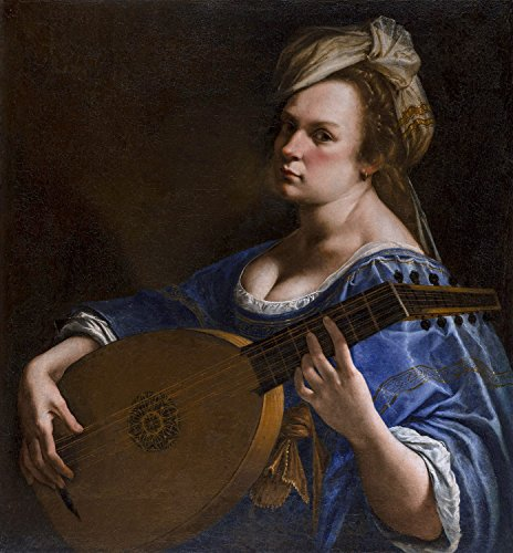 "Canvas Print Wall Art - Self-Portrait As A Lute Player - by Artemisia Gentileschi - 24"" by 26"""