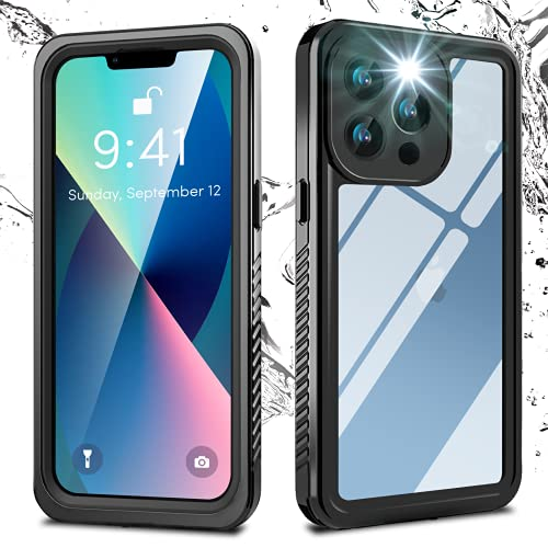 Oneagle for iPhone 13 Pro Case Waterproof, with Built in Screen Protector 360° Full Body Heavy Duty Protective Shockproof IP68 Underwater Daily-Use Case for iPhone 13 Pro 6.1'' 5G 2021