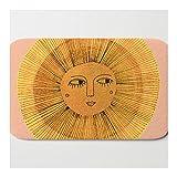 Alfombra de baño Alfombra de dibujo de sol, color dorado y rosa, alfombra de baño, antideslizante, absorbente, 40 x 60 cm