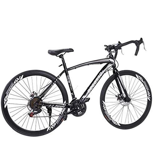 ererthome Mountainbike, 26 Zoll Rennrad Aluminium Vollgefedertes Citybike mit 21-Gang Scheibenbremse Mountainbikes, Cityräder, Mountainbike für Erwachsene und unterschiedliche (Black)