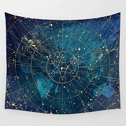 Mapa de estrellas Luces de la ciudad Tapiz Colgante de pared Decoración de pared Arte de la pared Ropa de cama Manta Cortina de ventana Tapices Decoración del hogar 150x200cm