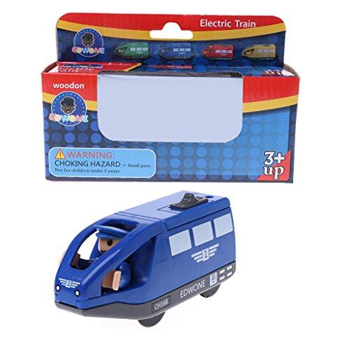 qingqingR Niños MagneticToy Pista Eléctrica Pequeña Locomotora Juguete De Madera De Plástico Niño Juguetes Educativos Azul 1 Unid