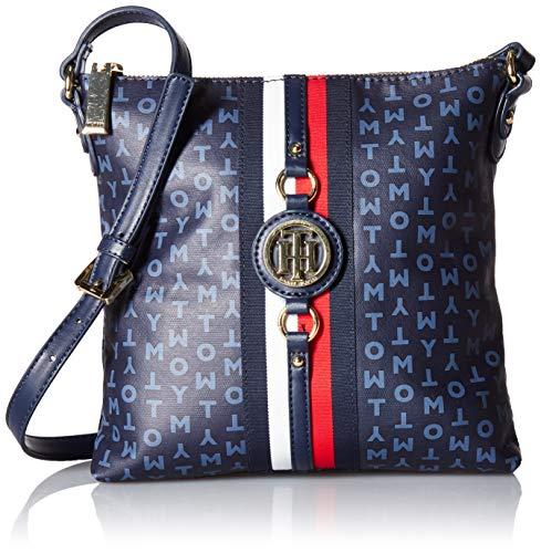 Tommy Hilfiger Damen Crossbody Bag for Women Jaden Umhängetasche, Marineblau/Vintage Indigo, Einheitsgröße