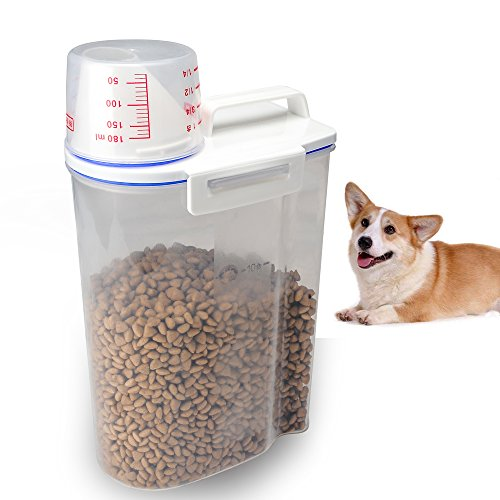TIOVERY Pet Food Plastic Storage Container Dispenser