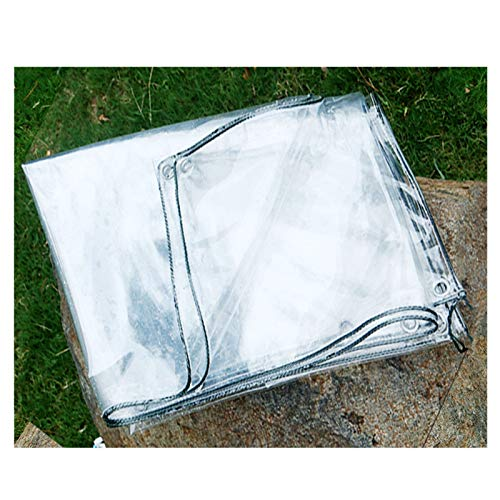 AWSAD PVC Transparente Engrosado Paño Impermeable Cubierta De Pérgola Impermeable para Invernadero Cubierta Vegetal Película Plástica Lona Alquitranada, 5 Tamaños, Se Puede Personalizar