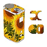 MightySkins Carbon Fiber Skin for Eleaf Istick 10W Mini – Sunflowers | Protective, Durable Textured Carbon Fiber Finish | Easy to Apply, Remove, and Change Styles | Made in The USA