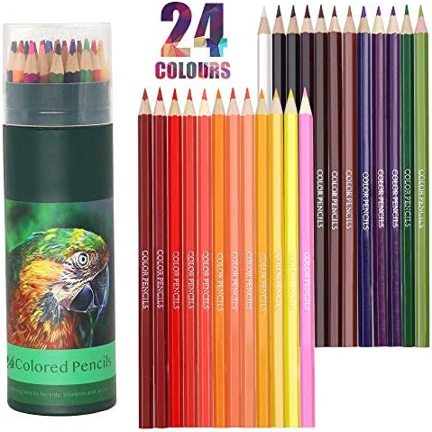 Colouring Pencils 24 Pcs Professional Coloured Pencils Drawing Pencils Oil based Water soluble product image