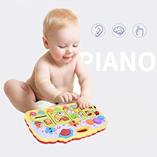 Ywoow Multifunctional Music Electronic Piano Baby Early Education Educational Toys, Multifunctional Music Train Electronic Piano Early Education Toys US Warehouse Sent