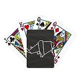 Origa rinocerontes forma geométrica póker jugar tarjeta mágica divertido juego de mesa