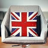 Yilooom 18 X 18 Inch Union Jack Decor, British Flag Pillow Cover, British Pillow Cover, Union Jack Pillow Cover, Industrial Pillow Cover, Vintage Pillow Cover, Union Jack Cushion Cover