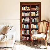 murimage Papel Pintado Puerta Estanteria 86 x 200 cm Incluye Pegamento 3D Libro Librera Biblioteca Salon Fotomurales Pared