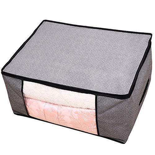 Mdsfe Draagbare vliesstof vouwkleding kussen quilt deken opbergdoos - 45x30x20 grijs, USA