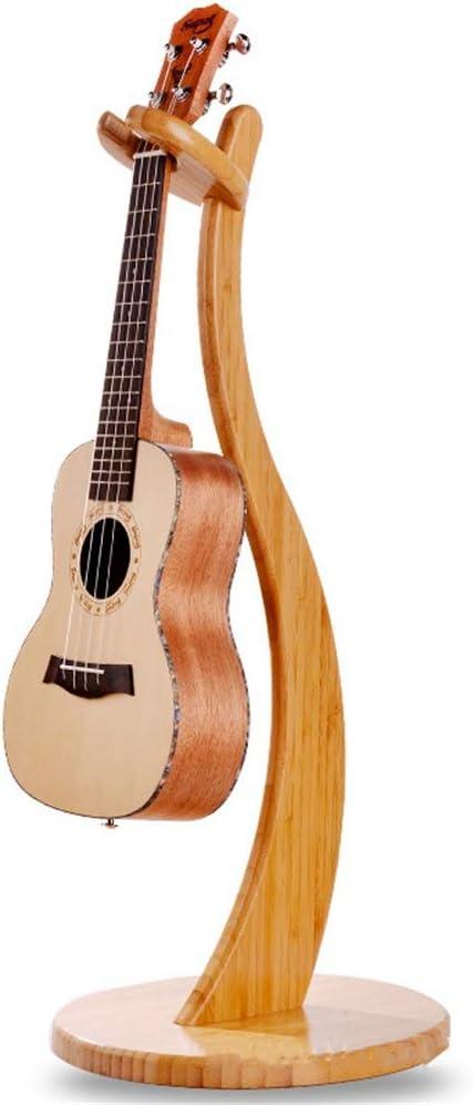 Soporte de guitarra Desmontable de madera maciza de bambú Violín Ukulele estante pequeño de cuatro cuerdas de guitarra stands completa posición creadora de instrumentos musicales (Color : Marrón)