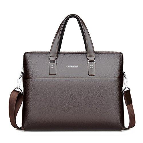 Ryyy Borse Da Uomo PU Business Bags Borse A Mano A Mano Zaini Borse A Tracolla Casual,Brown-38 * 6 * 29cm