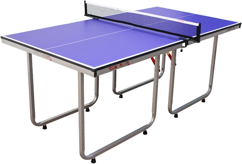 Mesa De Ping Pong Plegable, Mesa De Ping Pong Pequeña Interactiva para Padres E Hijos, Mesa De Ping Pong De Madera De Alta Densidad, 168x89x72cm