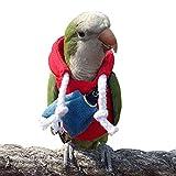 HEZHUO Traje de vuelo para pájaros, suministros para pájaros, cálido y cómodo, piel de tigre, loro verde, lorito de sol, loro monje, estornino, mynah, loro senegal, mini guacamayo, loro Keck (2 m)