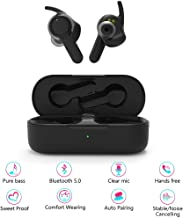 Pansonite True Wireless Earbuds with Charging Case, Bluetooth 5.0 Headphones with Built-in Mic, True Wireless in-Ear Earbuds HD Stereo Sound, in-Ear Headphone for Running for iPhone&Android