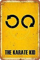 空手キッド壁金属ポスターレトロプラーク警告ブリキサインヴィンテージ鉄絵画装飾リビングルームガレージカフェレストランのための面白いハンギングクラフト