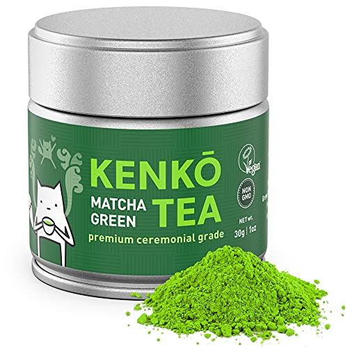 KENKO - Ceremonial Grade Matcha Green Tea Powder - 1st Harvest - Special Drinking Blend for Top Flavor - Best Tasting Premium Matcha Tea Powder - Japanese -30g [1oz]