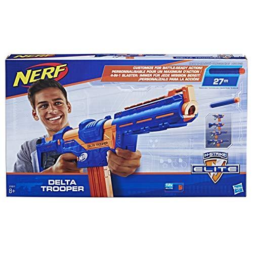 Nerf N-Strike Elite Delta Trooper, Spielzeugblaster mit ansteckbarer Schulterstütze