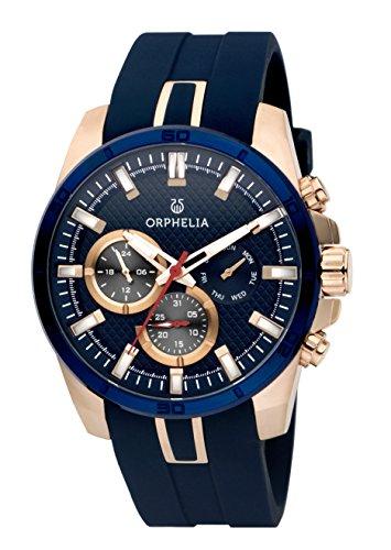 Orphelia Herren-Armbanduhr Bernina Analog Quarz Silikon 86602