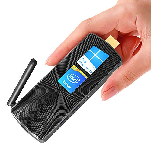 MeLE Fanless Mini PC Stick Intel Celeron J4105 4G/64G Windows 10 Pro Mini Computer Support HDMI 4K 60Hz Dual Band WiFi with Gigabit Ethernet Port PCG02 GLE