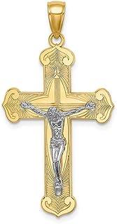 Ciondolo a forma di crocifisso placcato in rodio 14 ct per le donne