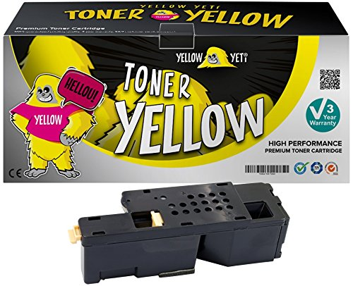 Yellow Yeti 593-11019 (1,400 Pages) Compatible Yellow Toner Cartridge for use with Dell C1765nfw C1765nf C1760nw 1250c 1350cnw 1355cn 1355cnw