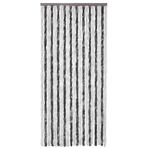 yorten Insektenschutz-Vorhang Flauschvorhang Chenille 100 x 220 cm Türvorhang Insekten Fliegenschutz Verstellbare