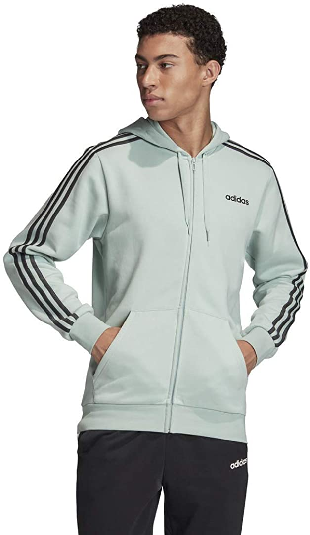 Our shop OFFers the best service adidas Men's Essentials Fleece Hoodie New product! New type 3-Stripes