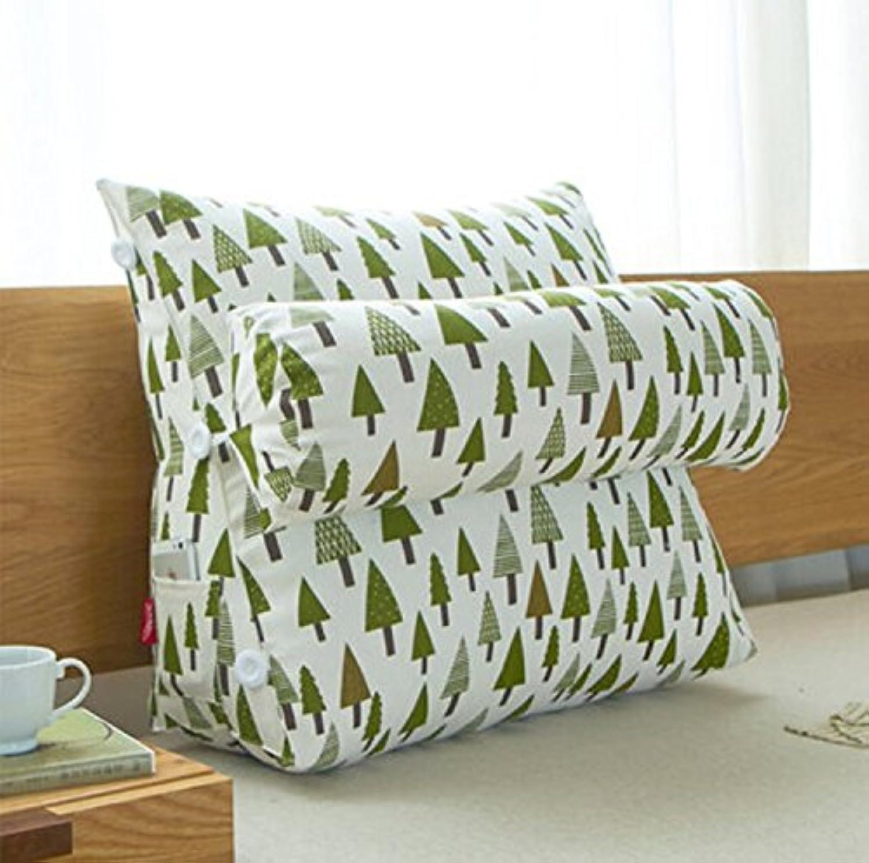 RFJJAL Triangle Bed Head Large Cushion Office Back Cushion Bed Neck Pillow Sofa Waist Cushion (color   F, Size   60  50 cm)