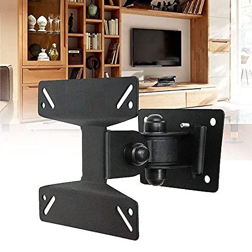 JeeKoudy Soporte de Pared para TV para Pantallas de 14-24 Pulgadas Soporte Giratorio de Pared para TV Plana VESA 75x75mm hasta 100x100mm hasta 15kg (35lbs)