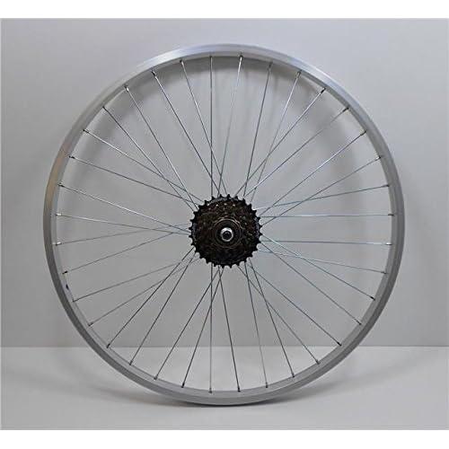 "WHEELS 26/"" Alloy /> Black /< Disc Mountain Bike MTB Shimano 6 7 Speed freewheel"