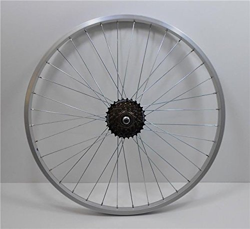 26' REAR Alloy Mountain Bike / Cycle Wheel + 7 Speed SHIMANO Freewheel