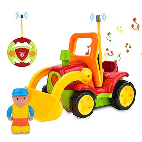 Coche Para Niños Pequeños con Control Remoto,  con Música y Luz,  Regalo de Cumpleaños Para Niños,  Niñas,  Niños,  Rojo