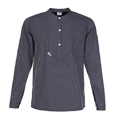 "modAS   Fischerhemd ""BasicLine""   schmaler Streifen   Größe L (ca. He 52/54 - Da 46/48)"
