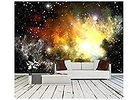 カスタム3D壁紙壁画カラフルな宇宙星雲カスタム3D壁紙壁画250x160cm(WxH)