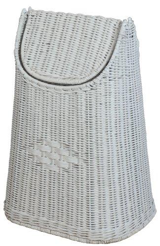 Corbeille en rotin tressé avec Couvercle à Bascule-Couleur : Blanc-korb outlet